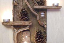 hecho con troncos
