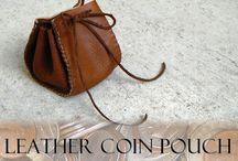 Leather - pouches & purses diy