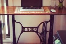 Singer seeing machine desk