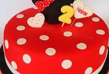 bolo de aniversário minnie