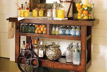 Bar cart/ drink area