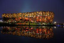 Das Chinesische Nationalstadion In Peking – Bird's Nest Stadion