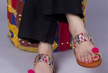 Kolhapuri Grandeur |  Embellished Kolhapuri Chappals / Kolhapuri chappals are hand crafted in villages on the border of Maharashtra and Karnataka. An authentic Kolhapuri chappal is basically characterized by the manufacturing process used.
