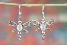 Natural Moonstone Jewelry in Sterling Silver