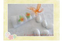 I confetti decorati di Lucia / segnaposto ,bomboniera , confetti decorati