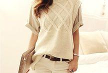 Вязаные свитера, свитшоты