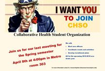 UTC Flyers and Info / Information about events at UTC including information about the Collaborative Student Health Organization (CHSO), an organization created to bring together students from all the health related fields to develop inter-professional and inter-collaborative experiences.