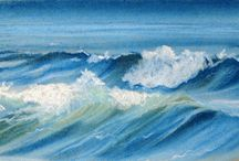 Drawing & painting waves