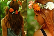 wedding flower crown / Wedding flower crown