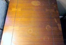 poetsen / watervlek in hout verw.