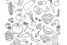 Obst/Gemüse Arbeitsblätter