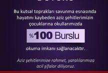 """Şehitlerimizin çocuklarına okullarımızda """"%100 Burslu"""" okuma imkanı"""