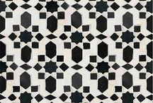 Black and White Moroccan Bathroom Tile