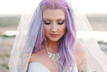 Noivas de cabelo colorido ♥