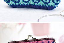 knit coin purse