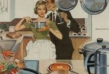 1950s Housewives / Love the artwork and cynical housewives