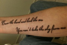 tattoos i think are neat / by Christine Sykes