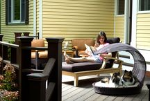 Outdoor Dog Furniture / Dog Beds made of water proof rattan and special fabric