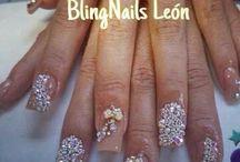 blingnails leon / Uñas de acrilico