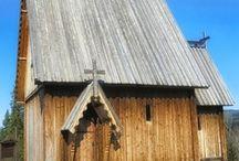 Iglesias de madera y madera en las iglesias