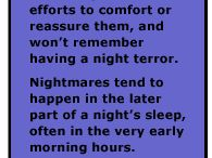 Nightmares/Bad Dreams and Children