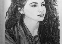 Kresba Selena Gomez