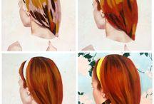 capelli come dipingerli