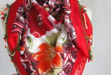 Red scarf / by Asuhan Scarf