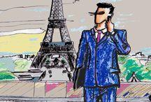 Maison Dupuy De Lôme in the cities / Sketches de costumes de l'homme Maison Dupuy de Lôme par Magali Bonilla-Roussel, tailleur-créatrice