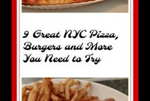 9 Great New York City Pizza, Burgers and more / New York City pizza, burgers, Joe's Pizza on Carmine Street, J.G. Melon, Cull & Pistol, Chelsea Market