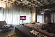 Sypialnia z widokiem na salon