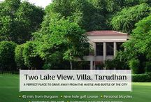 """Tarudhan valley / Get out of the hustle and bustle of the city life without having to travel too far away. Just around 45 minutes away from Gurgaon, the Tarudhan Valley is the perfect retreat for you. Enjoy your holiday in a private villa at Tarudhan Valley with """"V"""" are family."""
