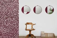 Revolution_wall mirror / Three mirrors with a clean and rigorous design consisting of identical elements that are mounted at different angles to obtain various configurations. The result is a light balance between frames, mirrors and wall.  http://www.edizionelimitatafactory.com/P007-revolution.html