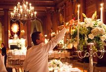 Candelabras / All the centrepieces shown here have been created by Sorori Design Florist
