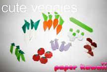 Origami gyümölcsök és zöldségek