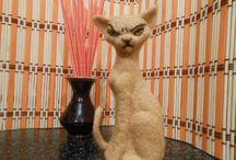 plstění, needle felting, kočky,cats,