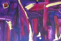 Contemporary Abstracts / This gallery shows few of my abstract paintings - the kinda stuff that you can look at and you don't need a brain to figure anything out.  It just works.