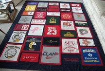 my projects / sports memory quilt made from t-shirts