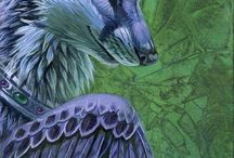 Mythical Creatures / Winged wolves, Dragons, Griffins, all kinds of things.