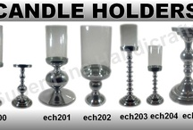 Aluminium Candle Holders / Aluminium Candle Holders with shiny silver finish.