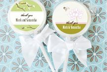 Edible Wedding and Party Favors / Complete your wedding or special event with some yummy edible favors such as personalized lollipops or mint candy favors.