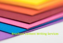 Brochure Content Writing / Our brochure content writing services prepare informative and fit in design size brochure for companies at cost effective rates.