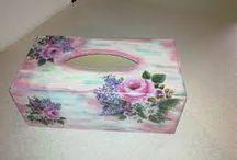 caixa suporte de lencos de papel