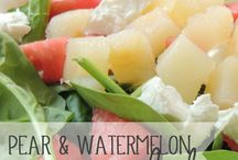 raw foods, salads etc