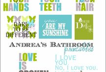 for the bathroom / by Tricia Hardy