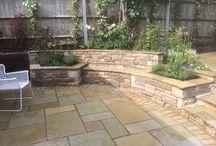 Curvy linear garden design