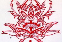 Own / Art Drawing Photography Tribal Zentangle Henna Patterns
