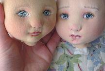Rosto de bonecas de pano