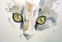 Animal eyes art / Drawings and paintings of animal eyes
