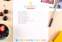 Summer 2015 Bucket List / Share your Summer Bucket Lists with us! Emily Ley designed a sweet printable so you can make (and share) as many lists as you want!   Sharing your Summer Bucket List is not only fun, it's as easy as 1-2-3. 1. Follow @studio_calico  2. Download the free printable from our site - http://bit.ly/bucketlistbyemilyley  3. Share your bucket list or photos of bucket list activities with the tag #SCbucketlist to be entered to win weekly prizes all summer long!  Can't wait to see your lists!  / by Studio_Calico
